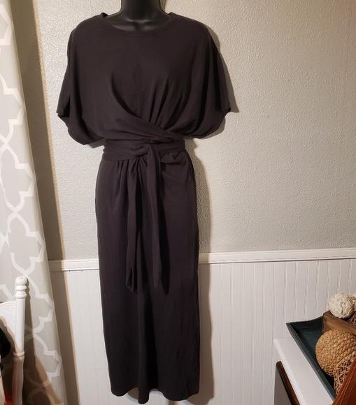 Zara Dresses & Skirts - Zara tee shirt dress with tie sz small, charcoal
